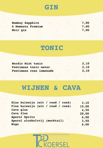 08 Gin, tonic en wijnen & cava